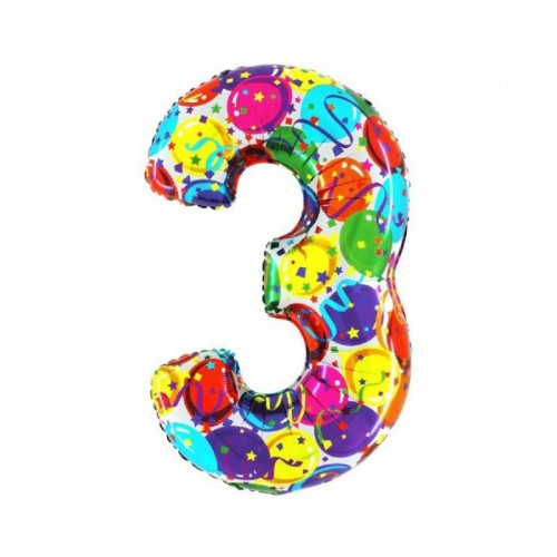 "Medio Numero ""3"" Decorati..."