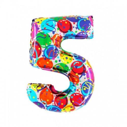 "Medio Numero ""5"" Decorati..."