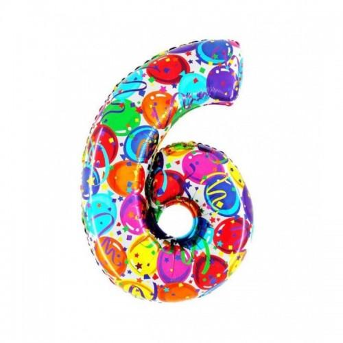 "Medio Numero ""6"" Decorati..."